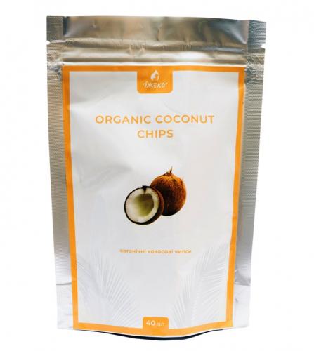 Кокосовые чипсы купить Киев, Одесса, Днепр, Харьков, Львов Organic coconut chips